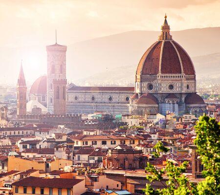 Beautiful view of Santa Maria del Fiore, florence, Italy photo