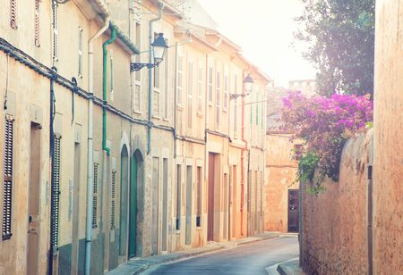 Spanish street in Mallorca, Spain photo