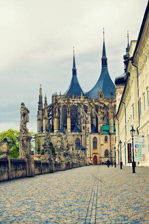 bohemia: Cathedral of Saint Barbara in Kutna Hora, Bohemia Editorial
