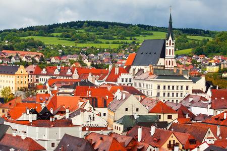 Beautiful cityscape of Cesky Krumlov, Czech Republic photo