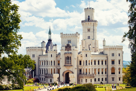 nad: Hluboka nad Vltavou castle, Czech Republic Editorial