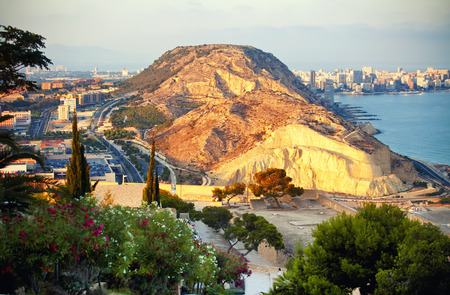 alicante: Beautiful view to Alicante mountain, Spain