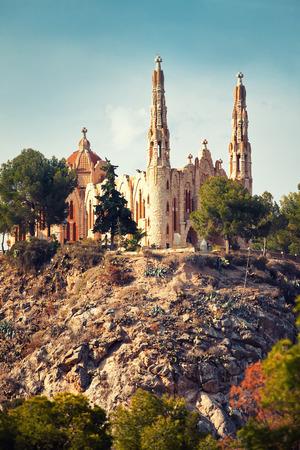xx century: Santa Maria cathedral in Novelda, Spain Stock Photo