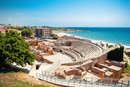 Roman amphitheater in Tarragona, Spain Foto de archivo
