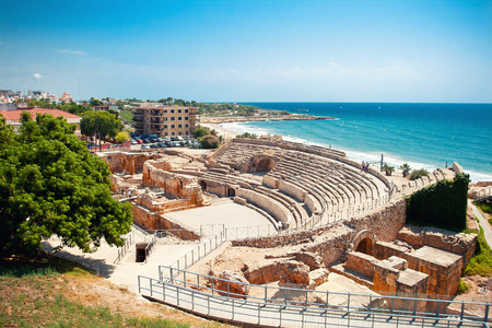 Roman amphitheater in Tarragona, Spain Standard-Bild
