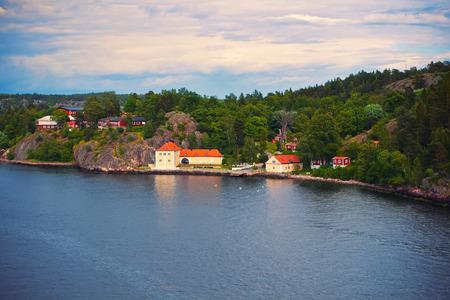 Charming island near Stockholm, Sweden photo