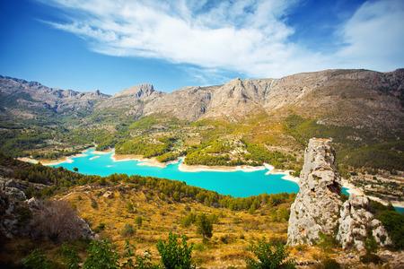 Beautiful landscape in mountain village Guadalest, Spain photo