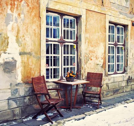 tallin: Ancient street in Old Town of winter Tallinn, Estonia