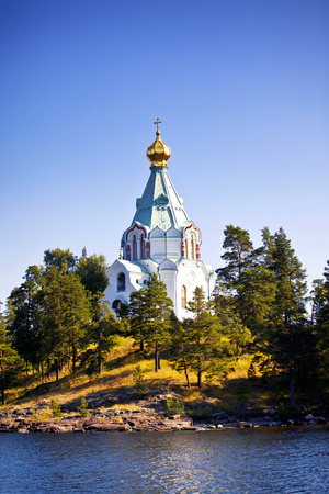 View to Saint Nicholas Skete in Valaam, Russia photo