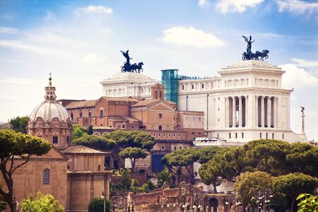 vittorio: Beautiful view to Rome and monument Vittorio Emanuele, Italy
