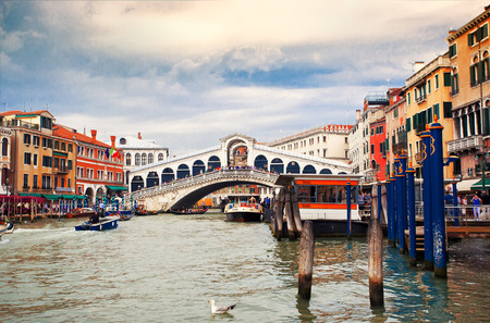 rialto bridge: View to Bridge Rialto, Venice, Italy Editorial
