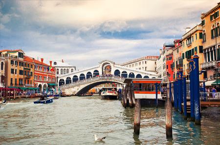 rialto: View to Bridge Rialto, Venice, Italy Editorial