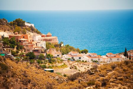 spanish landscapes: Spanish willage at sea coast, Spain