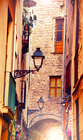 old quarter: Gothic quarter in Barcelona, Spain