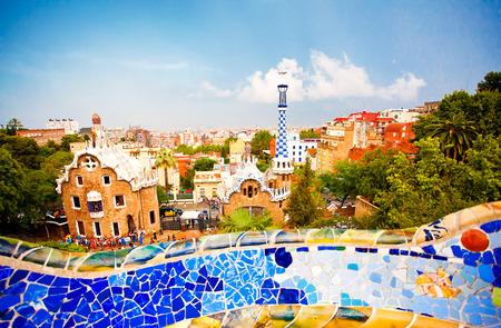 barcelona spain: Park Guell in Barcelona, Spain Editorial