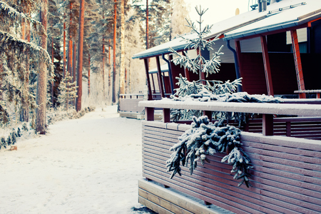 winter  house: Winter house in forest, Finland