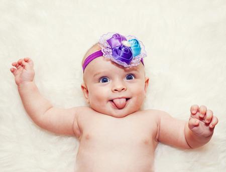 Beautiful laugh baby girl Standard-Bild