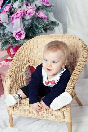 beautifu: Beautifu happyl baby boy with blue eyes