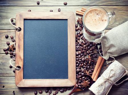 plane table: Coffee board menu and slate