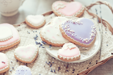 yummy: Cookies heart in pastel color