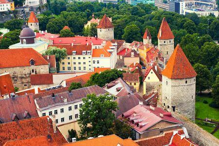tallinn: Wall in Tallinn Old town, Estonia Editorial