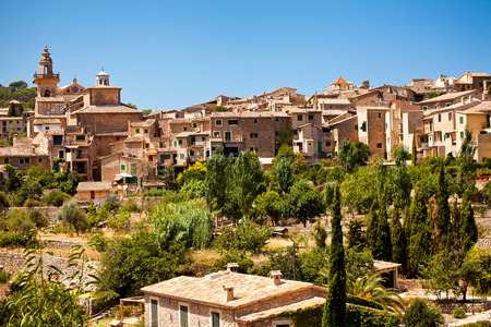Valldemossa village in Mallorca, Spain Stock Photo