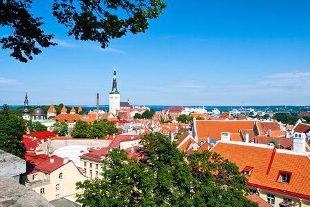 Summer Tallinn Old Town cityscape, Estonia