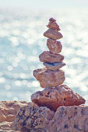 meditation stones: Stones and sea, meditation scene