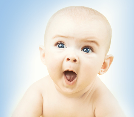 face of baby: Portrait of funny little baby boy
