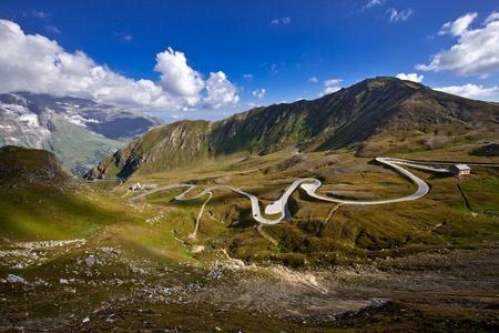 Twisty High Alpine Road - Grossglockner. photo
