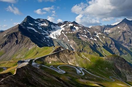 twisty: Twisty High Alpine Road - Grossglockner. Stock Photo