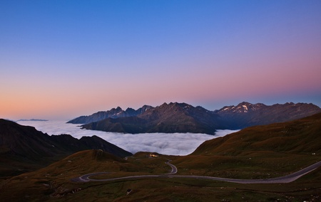 Twisty High Alpine Road - Grossglockner. photo