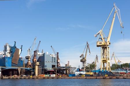 Ship Repair yard of Gdansk. photo
