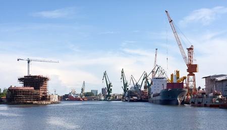 ポーランド ・ グダニスクの造船所。