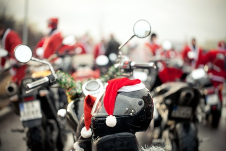 christmas costume: Motorcycles of Santa Claus, Poland