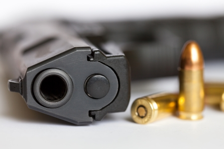 9mm pistol and cartridges