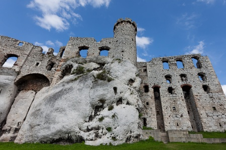 ogrodzieniec: The Ogrodzieniec Castle, Jura, Poland. Stock Photo