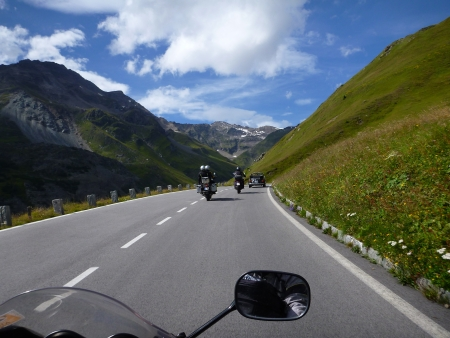 Alps from the perspective of a motorcyclist photo