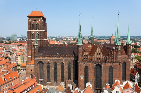 Cathedral in old town of Gdansk, Poland photo