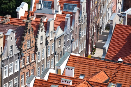 bird s eye: Architecture of old town in Gdansk, Poland - Bird s eye view