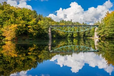 Railway bridge in Rutki, Pomerania region, Poland  Stock Photo - 22477150