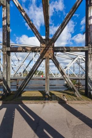 Historical bridge over the river Vistula, Tczew - Poland Stock Photo - 22477198