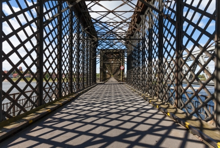 Historical bridge over the river Vistula, Tczew - Poland Stock Photo - 22477200