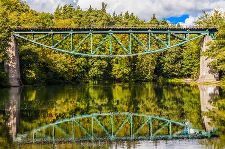 Railway bridge in Rutki, Pomerania region, Poland Stock Photo - 22477205
