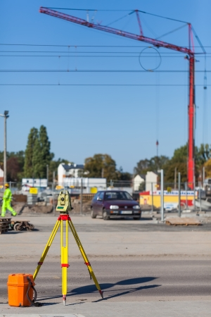 Surveying for construction  Stock Photo