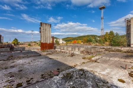 The grounds of the former construction nuclear power plant in Å»arnowiec, Pomeranian region, Poland  Banco de Imagens