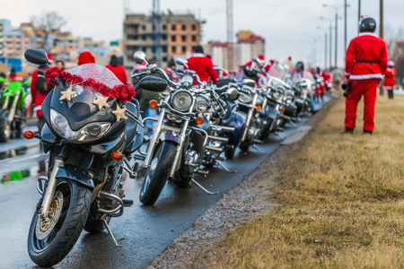Santas on motorcycles - Preparations for Departure photo