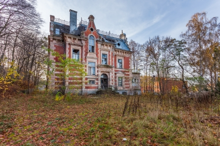 The building Masonic Lodge in ruins, Gdansk - Poland  photo