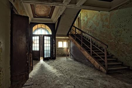 The building Masonic Lodge in ruins, Gdansk - Poland  Standard-Bild