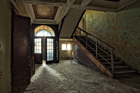 The building Masonic Lodge in ruins, Gdansk - Poland Banco de Imagens - 23560032